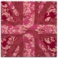rug #561761 | square pink damask rug