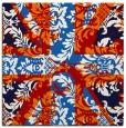 rug #561785 | square red damask rug