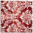 rug #561793 | square red damask rug