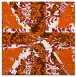 rug #561813 | square red-orange abstract rug