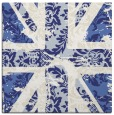 rug #561825 | square blue damask rug