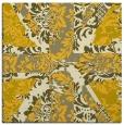 rug #561833   square yellow damask rug