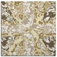 rug #561837 | square yellow damask rug