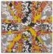 rug #561845 | square yellow abstract rug