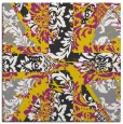 rug #561845   square yellow damask rug