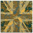 rug #561849 | square light-orange damask rug