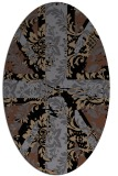 rug #561905   oval black retro rug