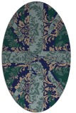rug #561929 | oval blue-green abstract rug