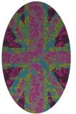 rug #561961   oval pink damask rug