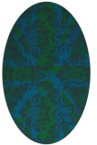 rug #561973   oval blue-green abstract rug