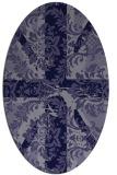 rug #561985   oval blue-violet damask rug