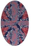 rug #561989 | oval pink retro rug
