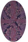 rug #561993 | oval purple abstract rug