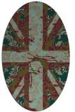rug #562017 | oval mid-brown retro rug
