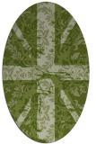 rug #562024 | oval retro rug