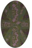 rug #562033   oval green damask rug