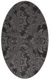 rug #562045   oval brown damask rug