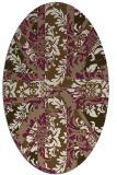 rug #562049 | oval beige abstract rug