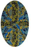 rug #562065 | oval blue damask rug