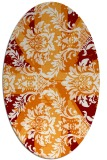 rug #562089   oval orange retro rug
