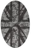 rug #562097 | oval red-orange damask rug