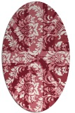 rug #562109   oval pink damask rug