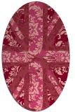 rug #562113   oval pink abstract rug