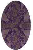 rug #562129 | oval purple rug