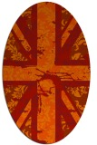 rug #562141 | oval orange abstract rug