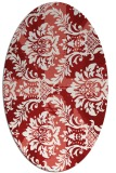 rug #562145   oval red retro rug