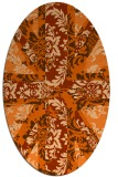 rug #562157 | oval red-orange damask rug
