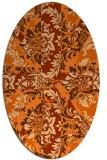 rug #562159 | oval retro rug