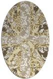 rug #562189 | oval yellow retro rug