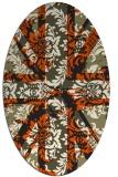 rug #562205 | oval damask rug