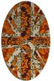 rug #562213 | oval orange retro rug