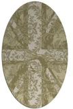 rug #562221   oval light-green abstract rug