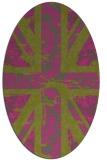 rug #562225   oval light-green abstract rug