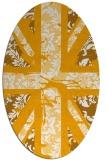 rug #562233 | oval light-orange damask rug