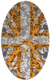 rug #562245 | oval light-orange retro rug