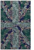 rug #562281 |  blue-green retro rug