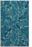 rug #562301 |  blue-green damask rug