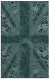 rug #562321 |  blue-green damask rug