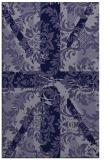 rug #562337 |  blue-violet abstract rug