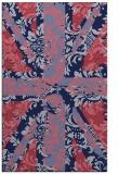 rug #562341 |  blue-violet retro rug