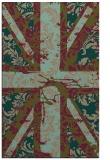 rug #562369    mid-brown abstract rug