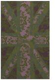 rug #562385 |  green abstract rug