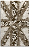 rug #562389 |  mid-brown damask rug