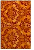 rug #562437 |  orange abstract rug