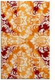rug #562441 |  orange abstract rug