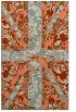 rug #562445 |  orange abstract rug